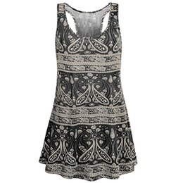 Top Womens Wholesale Clothing UK - Summer Tank Top Women Vintage Paisley Sleeveless Tank Tops Harajuku Festival Basic Top Women Clothes 2019 Womens Clothing