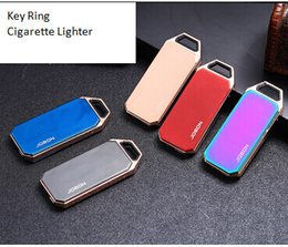 $enCountryForm.capitalKeyWord Australia - Key Ring Pendant USB Charging Lighter Creative Ice Surface Electronic Cigarette Lighters Metal Eco-friendly Smoking Lighter With Gift Box