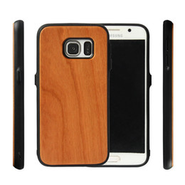 factory direct mobile phones wholesale UK - Factory Direct selling Real Wood Case +TPU For Samsung Galaxy S6 S6edge S7 S8 plus Note 9 Bamboo Mobile Phone Cover