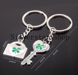 $enCountryForm.capitalKeyWord Australia - Factory spot wholesale metal key ring couple heart lock clover key chain creative gift gift