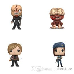 evil figures NZ - Funko Pop Resident Evil Jill Tyrant Leon Scott Kennedy Licker Anime Figure Collection Model Hot Toys Hot Sale New Arrvial Free Shipping