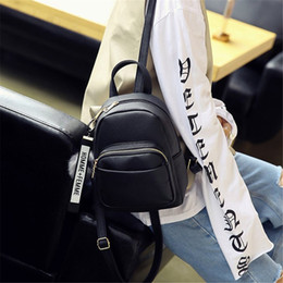 $enCountryForm.capitalKeyWord NZ - Female Soft PU Leather Mini Backpacks Students Fuzzy Ball Pendant Shoulder Schoolbags Women Fashion Small Travel Bags Back Pack