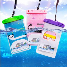 Plastic Screen For Cell Phones Australia - Universal For phone Waterproof Case bag Cell Phone Waterproof Dry bag For smart PhoneCartoon Transparent Can Touch Screen Waterproof Bag