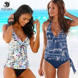 Plus Size Swimdress Swimsuit Woman Australia - Tqtqkk2019 Two Piece Tankini Swimsuits Women Swimwear Vintage Print Plus Size Swimwear Women Padded Bathing Suit Bikini Set Xxxl Y19052101