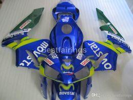 Injection Abs Fairings Australia - Injection ABS hot sale fairing kit for Honda CBR600RR 05 06 blue green fairings set CBR600RR 2005 2006 FF12