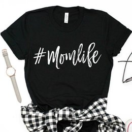 0bd81f708adf0 Women's Tee Mom Life Letters Print Women Tshirt Loose Harajuku Cotton  Casual Funny T Shirt For Lady Girl Top Tee Hipster Drop Ship