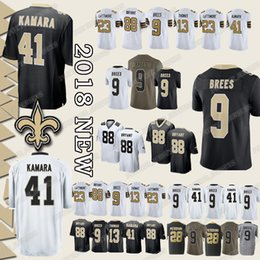 Cheap sales New Orleans Saints jersey 41 Alvin Kamara 9 Drew Brees 88 Dez  Bryant 23 Marshon Lattimore 13 Michael Thomas Adrian Peterson TOP d3f5450ef