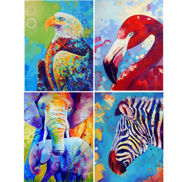 $enCountryForm.capitalKeyWord Australia - 4 Pack Zebra Elephant 5D DIY Diamond Painting Kits Full Drill Rhinestone Embroidery Cross Stitch Home Decor Craft