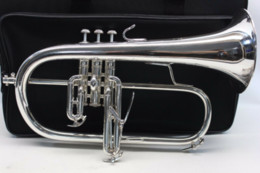 BACH 183 Bb Trumpet Flugelhorn Brass Silver-Plated B Flat Trumoet Flugelhorn Professional Musical Instrument with Accessories Case on Sale