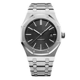 aaa luxe Mens automatique montres mécaniques style classique 42mm plein bracelet en acier inoxydable top qualité montres saphir super lumineux