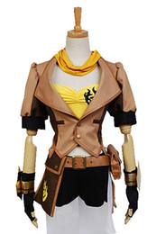 Wholesale rwby cosplay resale online - Cosplay Costume RWBY Yellow Trailer Yang Xiao Long Female