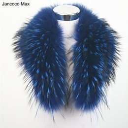 Real Fur Trimmed Jackets Australia - Jancoco Max 10 Colors Real Raccoon Fur Collar Women Winter Fashion Jacket Scarf Lining 80cm For Hood Trim Wholesale S1080WS D19011004