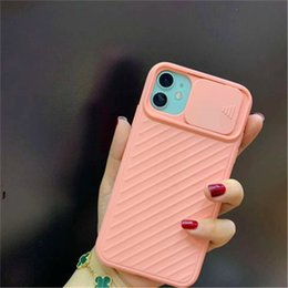 camera sliding Canada - New Iphone Case Applicable Lens Sliding IPhone11Pro Max Apple XS Silicone Soft Shell Protective Shell All-inclusive Camera 6 Colors