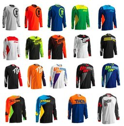 custom sport t shirts UK - Thor Custom Downhill Suit Outdoor Sports Breathable And Quick -Drying Long -Sleeved T -Shirt Bicycle Riding Suit Off -Road Racing Suit