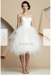 Criss Cross Organza Wedding Dresses NZ - Ball Gown Sweetheart Spaghetti Straps Knee-length Organza Wedding Dress o