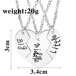 Wholesale New Fashion Jewelry Women Necklace Good Friend Necklace Love Stitching Drip Clavicle Chain Pendant Sale
