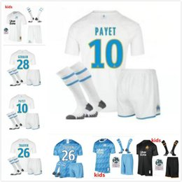 $enCountryForm.capitalKeyWord Australia - Olympique de Marseille soccer jersey 2019 20 kids kit with socks MarseilleS 2019 20 OM SHIRT Marseille PAYET thauvin L.gustavo boys shirts