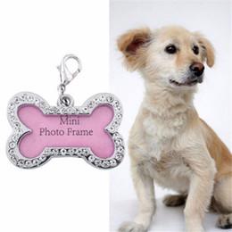$enCountryForm.capitalKeyWord Australia - ID Tags for Pet Puppy Fashion Bone Shape Rhinestone Identity Card Heart Pendant Pearl Pet Jewelry Accesorios