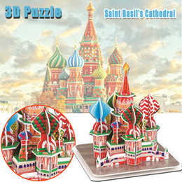 $enCountryForm.capitalKeyWord NZ - Saint Basil's Cathedral 3D Puzzle Toy for Children DIY Cardboard Handmade Assembling Building Model Toy Gift Home Decoration