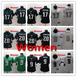 963ef3593 Women 9 Nick Foles Philadelphia Jersey Eagles Football Jersey Stitched  Embroidery 17 Alshon Jeffery 20 Brian Dawkins Football Women Jersey