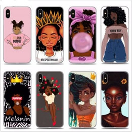 iphone 6s black gold Australia - 2bunz Melanin Poppin Aba Soft Silicone Phone Case for iPhone X XR XS Max 6 6s 7 8 Plus 11 Pro XI XI Max 2019 Fashion Black Girl Cover Funda