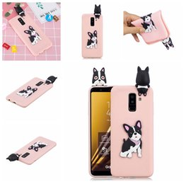 panda covers Australia - Pasted 3D Funny Panda Dog Cat Pineapple for Galaxy A6 Plus Case Cover Sticking a Little Silicon Doll 61 Models Option