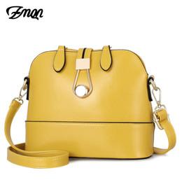$enCountryForm.capitalKeyWord UK - Women Crossbody Bags Leather Shell Yellow Bags Small Fashion Ladies Hand Bag For Women 2019 Girls Side Bolsa Feminina A534