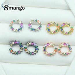 ring shaped earrings Australia - 5Pairs,The Rainbow Series,The Ring Shape Women Fashion Earrings.4 Colors, Can Mix, Can Wholesale