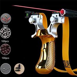 Großhandel outdoor Jagd slingshot laser Ziel Schleuder mit flachen Gummiband hohe Präzision Schießen sling shot