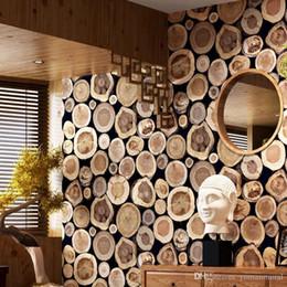 Modern Kalın 3D Ahşap Günlük Doku Kabartmalı PVC Su Geçirmez Duvar Kağıdı Rulo Oturma Odası Masaüstü Duvar Kağıdı Duvar Papel De Parede indirimde