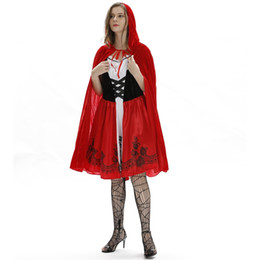 $enCountryForm.capitalKeyWord Australia - Women Cosplay Dress Little Red Riding Hood Halloween Theme Costume Female Funny Sexy Evening Party Stage Clothes Free Shipping