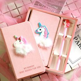 $enCountryForm.capitalKeyWord Australia - Pink Girl Heart Unicorn Flamingo Creative Notebook with Pen Korean Stationery