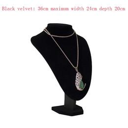 $enCountryForm.capitalKeyWord NZ - Jewelry display frame black velvet plus cotton necklace model neck portrait frame jewelry display props pendant jewelry display frame 3 colo