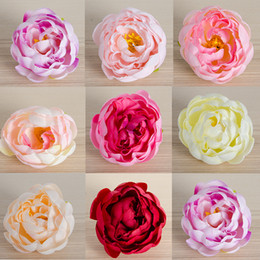 Discount fake window wall 30PCS LOT artificial rose silk peony flower heads 8cm wedding flower wall Accessories DIY window Simulation fake flowers