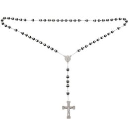 Black crucifix pendant online shopping - Stainless Steel Pendant Necklace Silver Black Virgin Mary Jesus Christ Crucifix Cross Rosary Vintage Retro Inch Chain Man Wom
