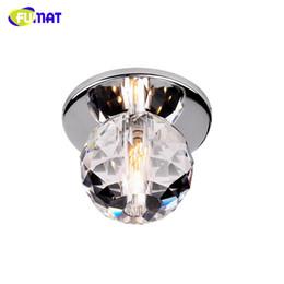 Clear Balls Australia - FUMAT Modern Ceiling Light K9 Crystal Ball Lustre Mount Hallway Lighting Fixture led plafondlamp luminaria Pendant ceiling Lamp