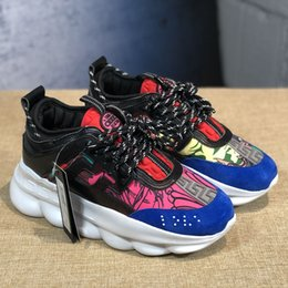 $enCountryForm.capitalKeyWord Australia - Cheap Men Women Kids Luxury Designer Shoes Discount Price New Chain Reaction Multi Color Rubber Suede Fashion Trainers Sneakers