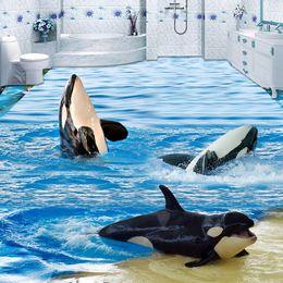 $enCountryForm.capitalKeyWord Australia - 3D Wallpaper Cartoon Sea Wave Dolphins Floor Tiles Murals Sticker Bathroom Kids Bedroom PVC Waterproof Self Adhesive Wall Papers