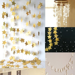 $enCountryForm.capitalKeyWord Australia - Star-shaped Paper Garlands Colorful Bunting Home Wedding Party Banner Hanging Paper Garland Shower Room Door Decoration 4M