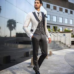 2020 Latest Unique design man suit for wedding evening party satin shawl lapel classic jacket slim fit formal tuxedos custom blazer 3 pieces