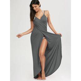 Dress Swimwear Bikini Cover Australia - Zaful Wrap Slip Beach Dress Tunic Bikini Swimwear Cover Up Women Robe De Plage Summer Beach Tunic For Beach Sarongs 2018 New J190623