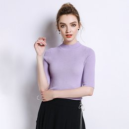 upper suit Australia - Pop2019 Section Knitting Unlined Upper Garment Spring Xia Xinkuan European Suit-dress Hollow Out Half High Lead Solid Color In Sleeve Jacket