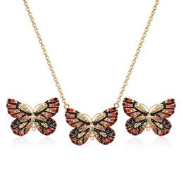 $enCountryForm.capitalKeyWord UK - HC Vintage Crystal Butterfly Earrings Necklace Women Girl Jewelry Sets Elegant Gold Color Cute Jewelry Set Kid Children Gift T
