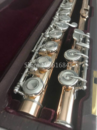 Keys Brands Australia - New High Quality Muramatsu 16 Keys Closed Holes Flute Cupronickel Gold Lacquer Brand Flute Musical Instrument with Case Free Shipping