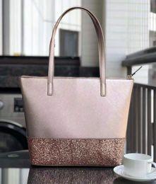 f1293e76c9a Marca desiger new glitter grande bolso de hombro de la mujer Monederos  Bolsos de moda totes 5 color