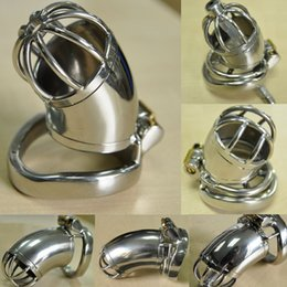 $enCountryForm.capitalKeyWord Australia - Male chastity stainless steel Anti off version short paragraph ball stretcher sex ring for men male chastity device chastity