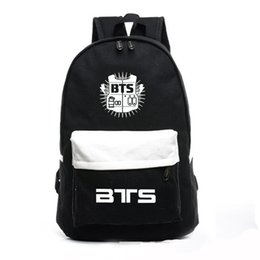 37ab7eff22a3 High Quality Korean Backpacks Bts Fans Mochila Printing Backpack Kpop Stars School  Bag Boys Girls Gift