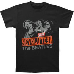 Beatles tee shirts online shopping - Beatles Men s Revolution T shirt Large Black new Summer Fashion Men s Short Sleeve cotton Printed T Shirt Tees Men