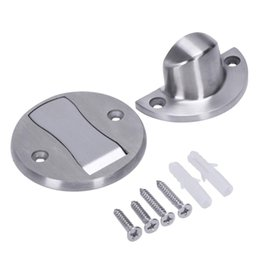 Door Holder Stops Australia - Magnet Door Stops Stainless Steel Door Stopper Magnetic Holder Toilet Glass Hidden Doorstop Furniture Hardware