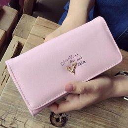 Clutch Wallet Lady Purse Handbag Australia - New Arrivals Fashion Women Wallets Bags Deer Head Lady Handbags Soft Pu Leather Coin Purse Cards Id Holder Long Clutch Wallet